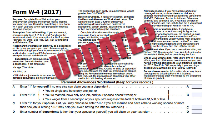 How Often Should An Employee Update Their W4 Form Arch Resource Group